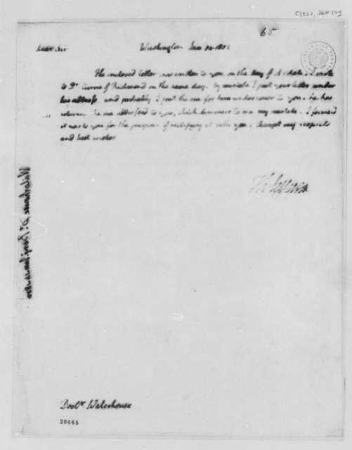 Thomas Jefferson to Benjamin Waterhouse, January 14, 1802