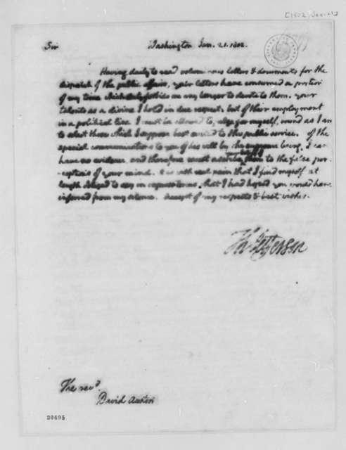 Thomas Jefferson to David Austin, January 21, 1802