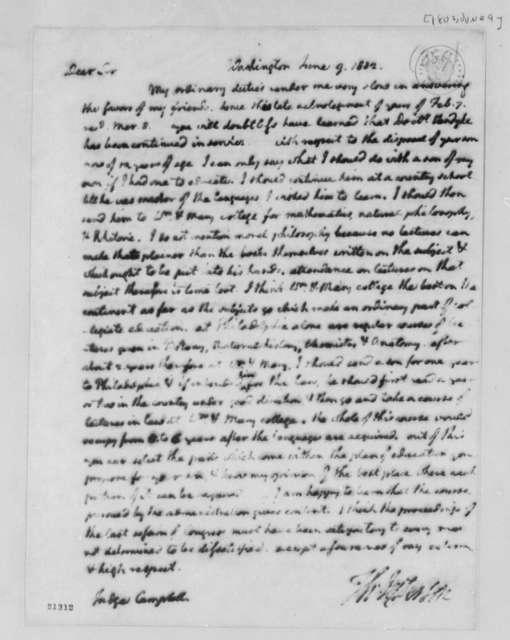 Thomas Jefferson to David Campbell, June 9, 1802