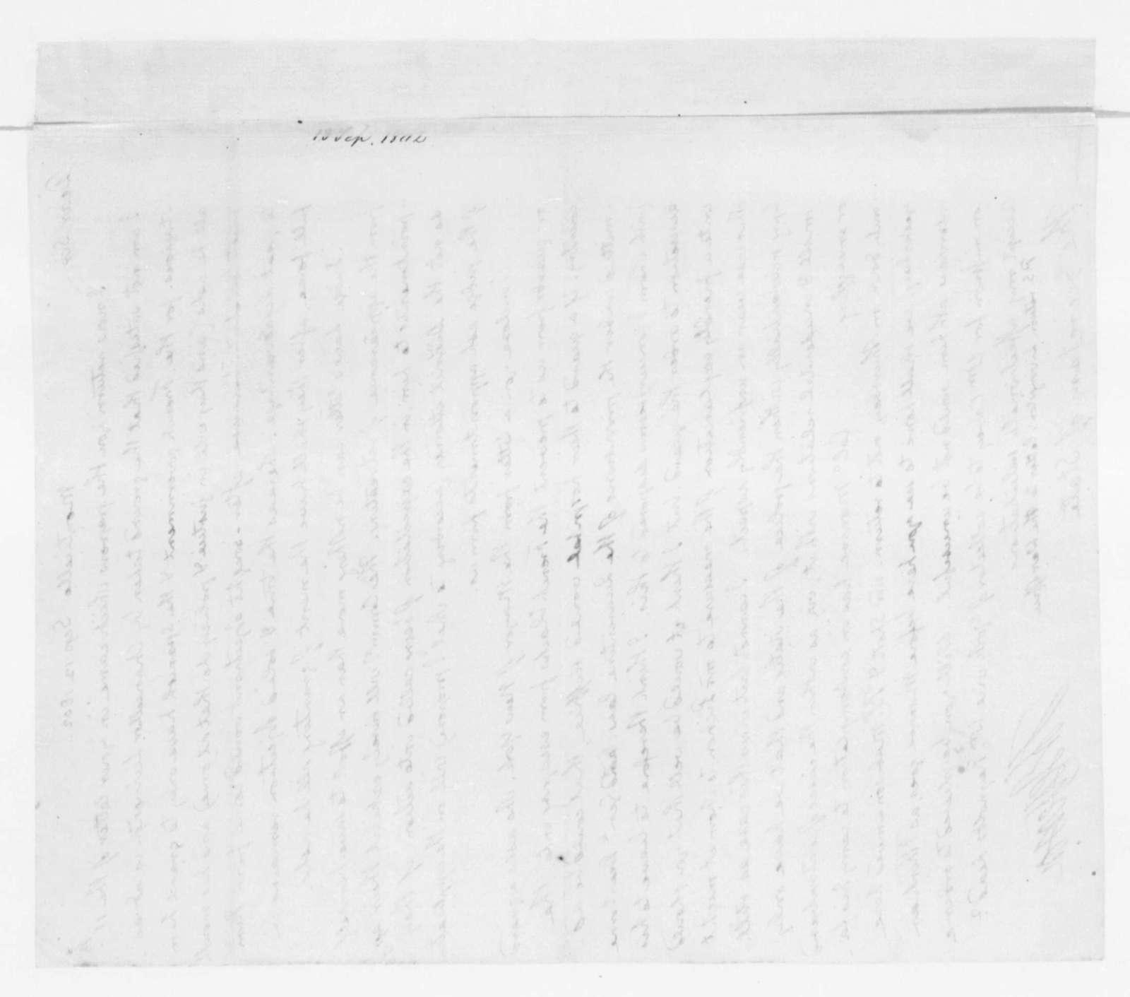 Thomas Jefferson to James Madison, September 13, 1802.