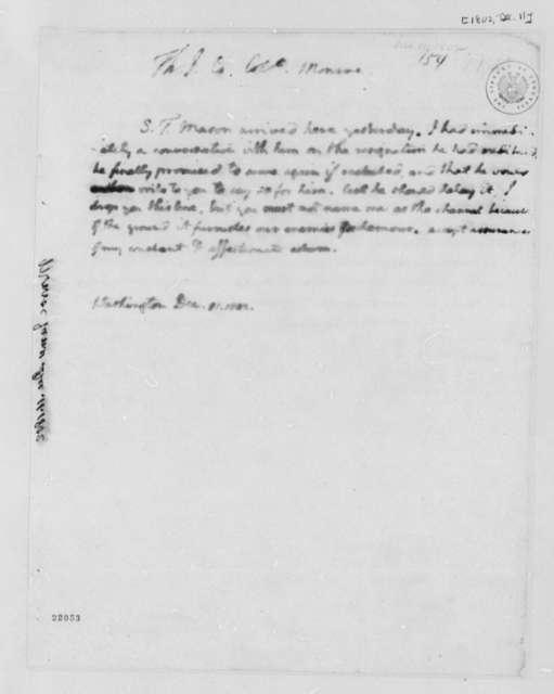 Thomas Jefferson to James Monroe, December 11, 1802