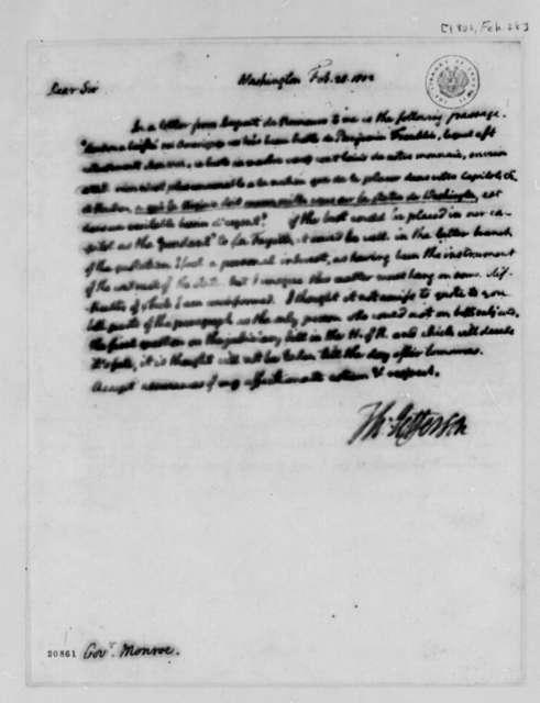Thomas Jefferson to James Monroe, February 28, 1802
