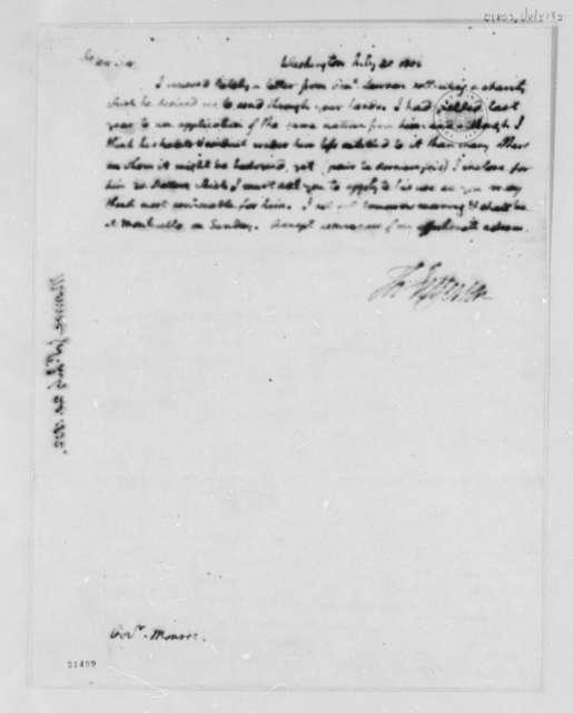 Thomas Jefferson to James Monroe, July 20, 1802