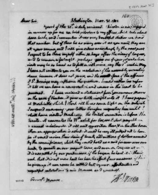 Thomas Jefferson to James Monroe, March 31, 1802
