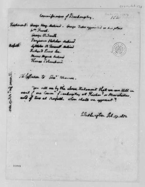 Thomas Jefferson to James Monroe, October 17, 1802