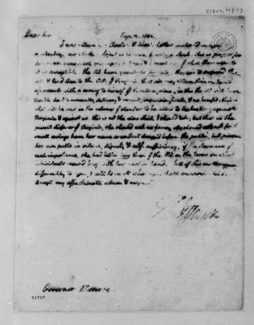 Thomas Jefferson to James Monroe, September 2, 1802