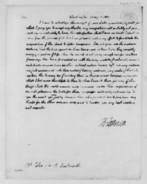 Thomas Jefferson to John Smith, May 5, 1802