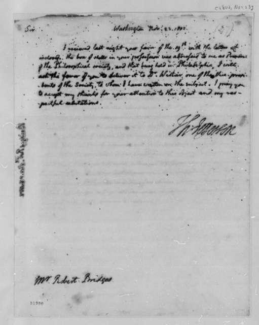 Thomas Jefferson to Robert Bridges, November 23, 1802