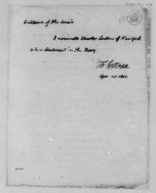 Thomas Jefferson to Senate, April 21, 1802