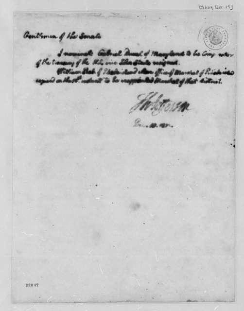 Thomas Jefferson to Senate, December 15, 1802