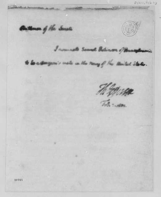 Thomas Jefferson to Senate, February 3, 1802