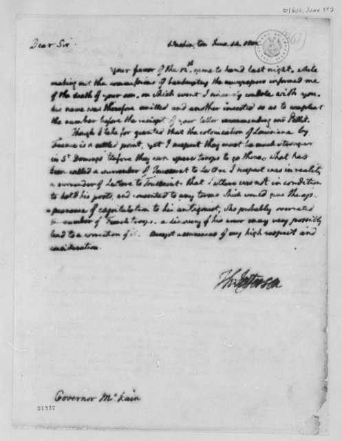 Thomas Jefferson to Thomas McKean, June 14, 1802