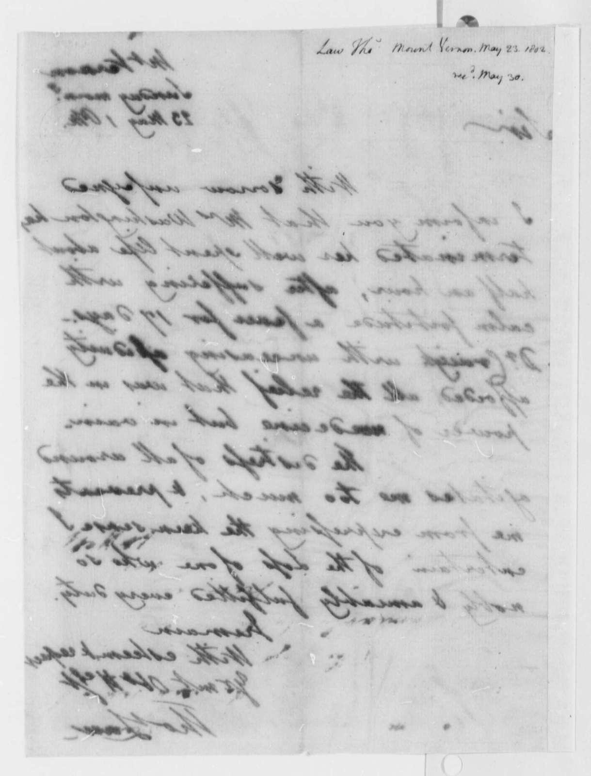 Thomas Law to Thomas Jefferson, May 23, 1802