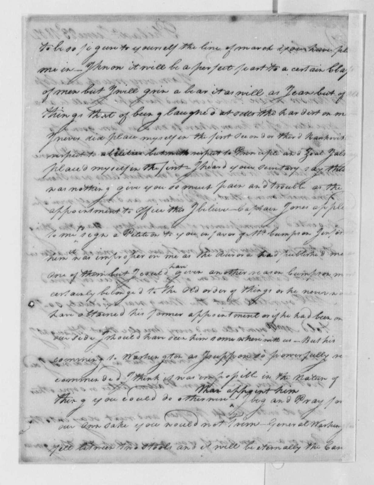 Thomas Leiper to Thomas Jefferson, June 23, 1802