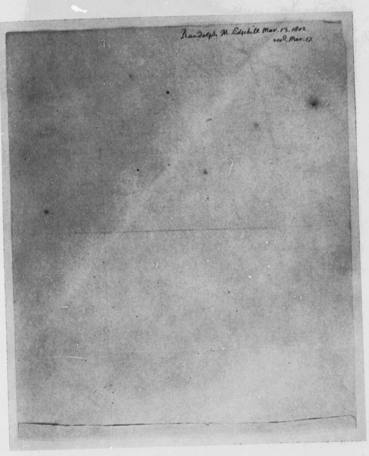 Thomas Mann Randolph, Jr. to Thomas Jefferson, March 13, 1802