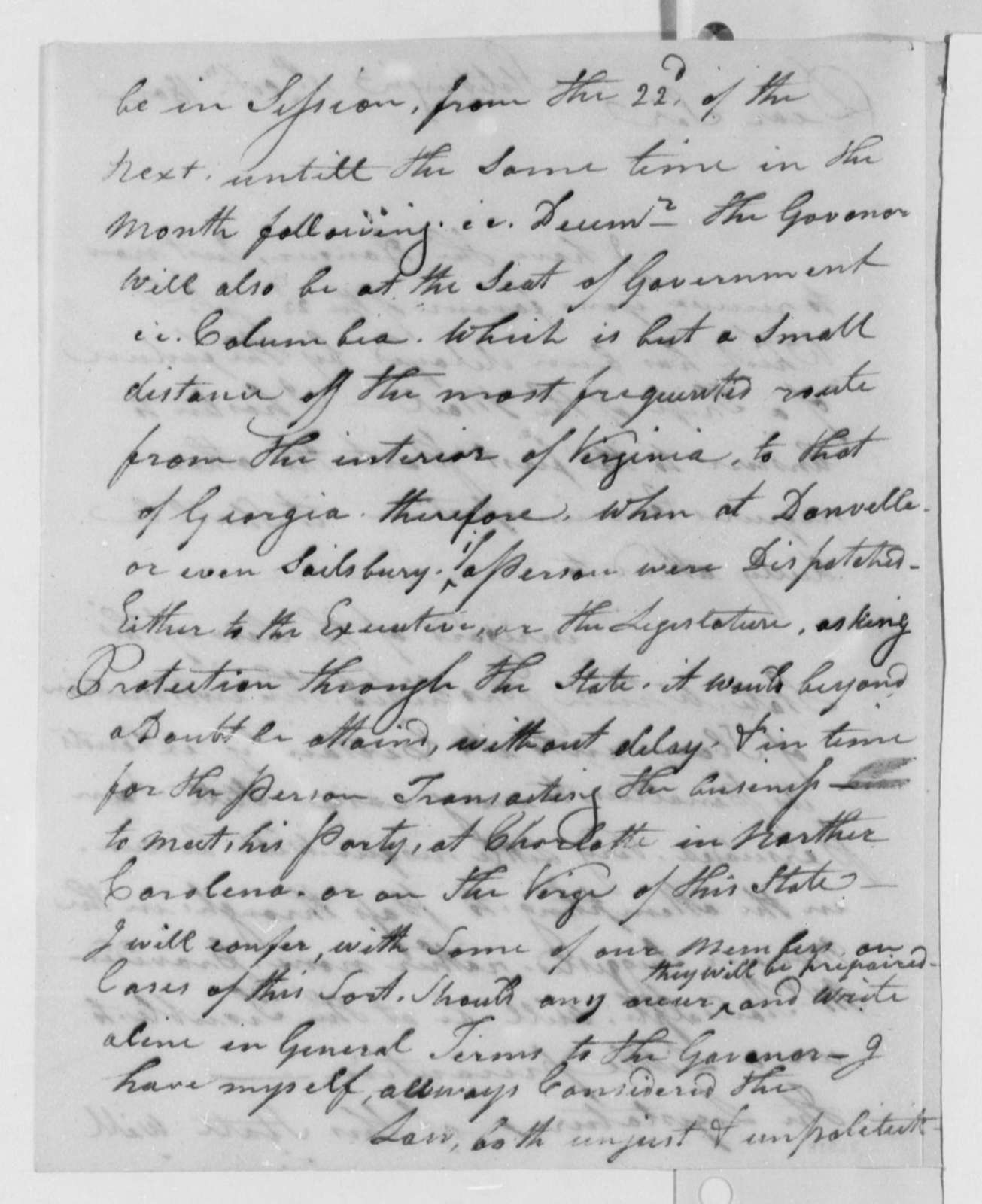 Thomas Sumter to Thomas Jefferson, October 31, 1802