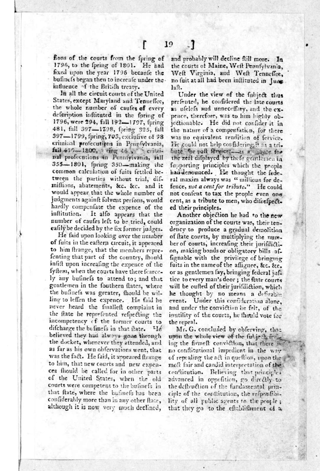 William Branch Giles, February 18, 1802