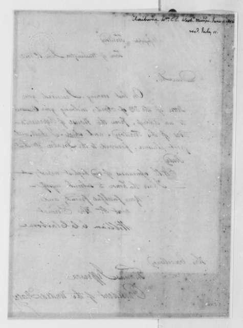 William C. C. Clairborne to Thomas Jefferson, June 1, 1802