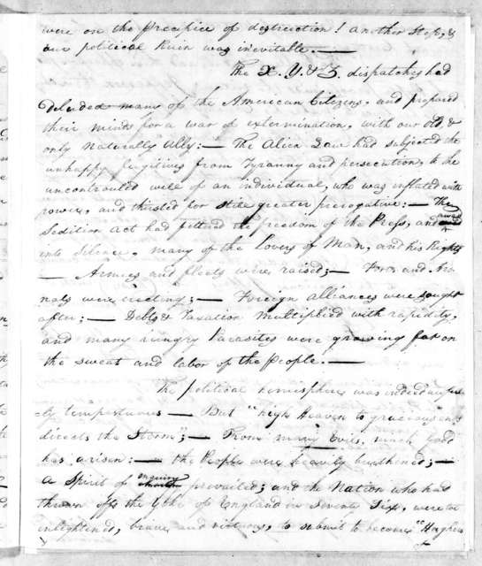 William Charles Cole Claiborne to Andrew Jackson, March 20, 1802