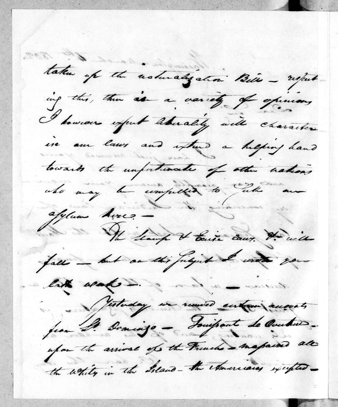 William Dickson to Andrew Jackson, March 4, 1802