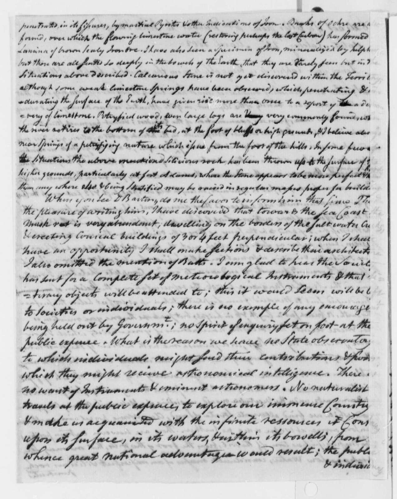 William Dunbar to John Vaughan, March 21, 1802