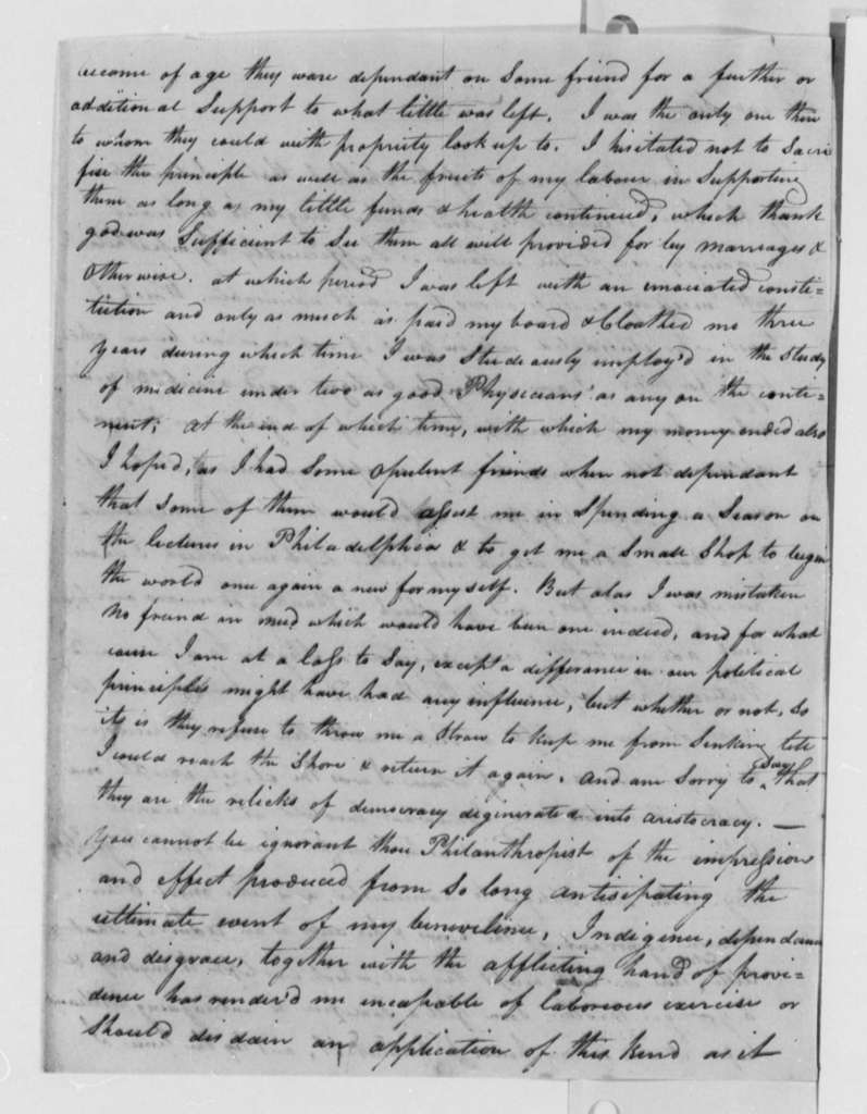"Anonymous to Thomas Jefferson, February 4, 1803, Signed ""A. B."""
