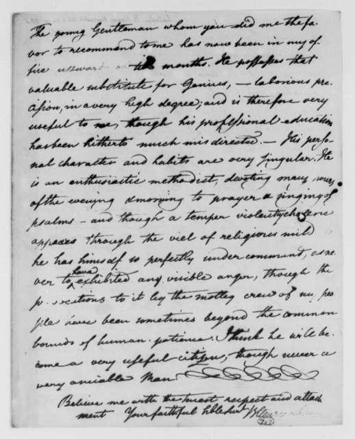 Benjamin H. Latrobe, Surveyor of the Public Buildings to Thomas Jefferson, October 2, 1803