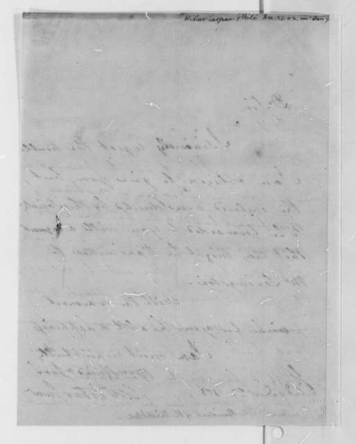 Caspar Wistar to Thomas Jefferson, December 27, 1803
