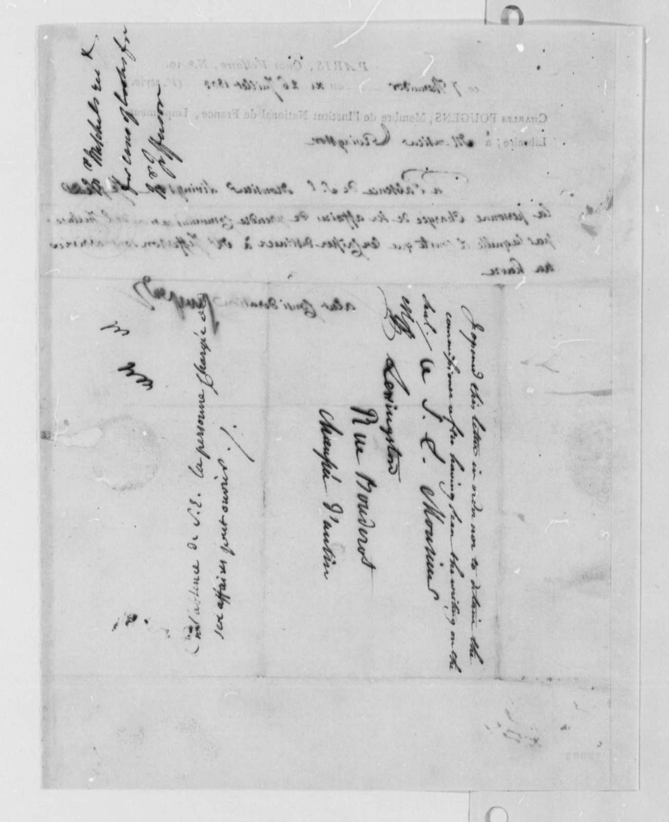 Charles de Pougens to Robert R. Livingston, July 26, 1803, in French