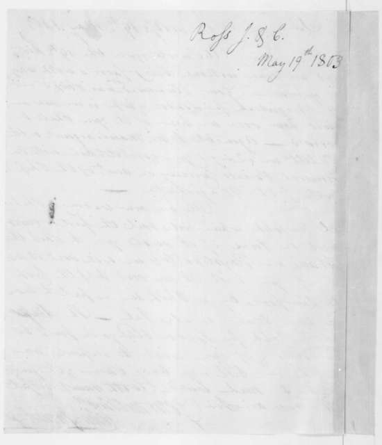 Colin and James Ross to James Madison, May 19, 1803.