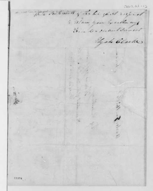 Elijah Clarke to Thomas Jefferson, October 10, 1803