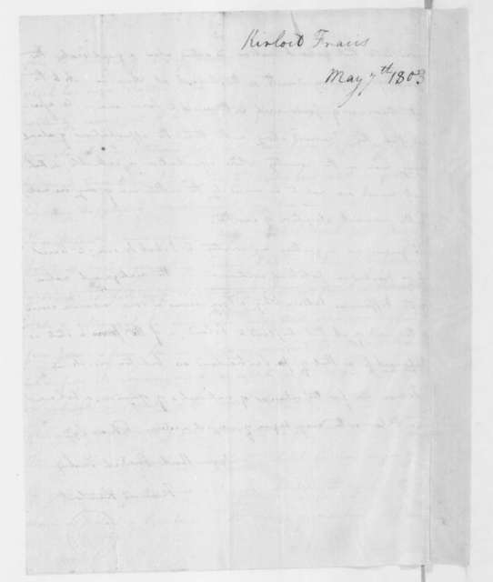 Francis Kinloch to James Madison, May 7, 1803.