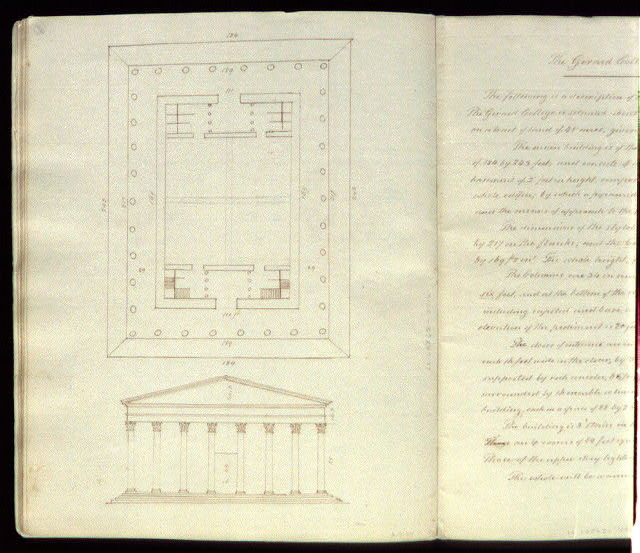 [Girard College, Philadelphia, Pa. Plan and elevation]