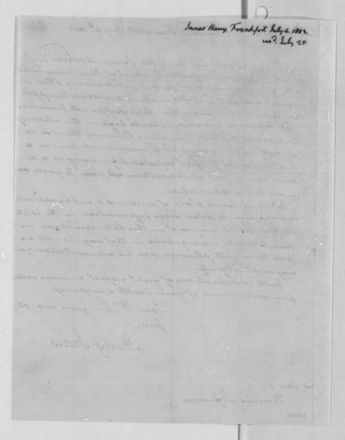 Harry Innes to Thomas Jefferson, July 4, 1803