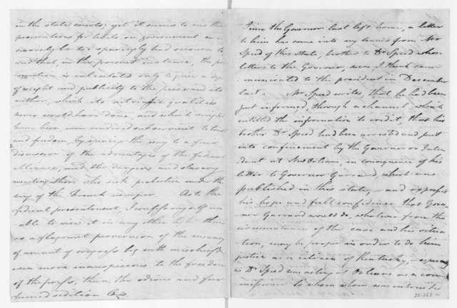Harry Toulmin to James Madison, April 5, 1803.