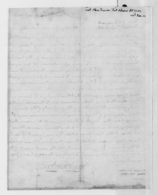 Hore Browse Trist to Thomas Jefferson, October 17, 1803