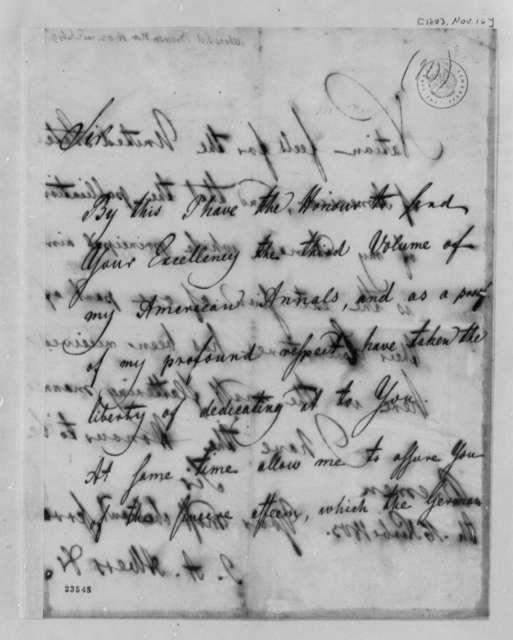 J. A. Albers to Thomas Jefferson, November 16, 1803