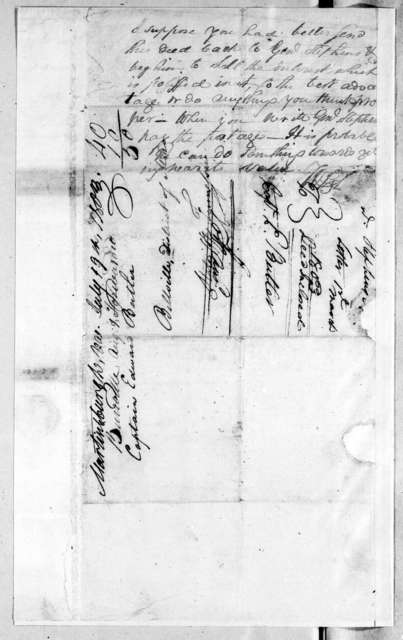 J. Stephenson to F. Butler, March 1, 1803