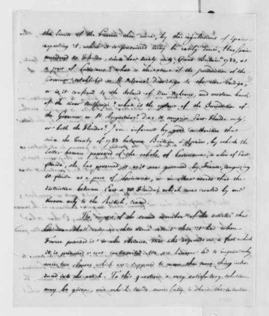 James Monroe, June 7, 1803, West Florida and Louisiana Cession