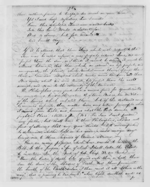 James Wallace to Thomas Jefferson, May 19, 1803