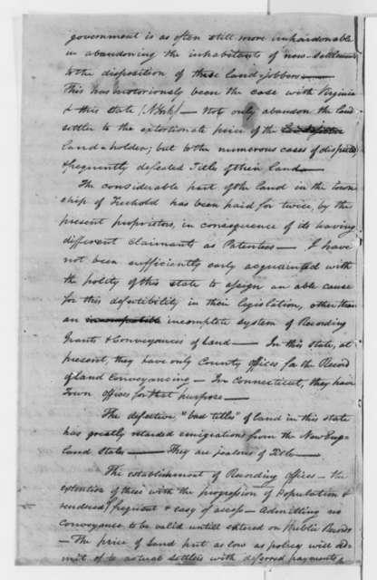 Jesse Hawley to Thomas Jefferson, November 2, 1803