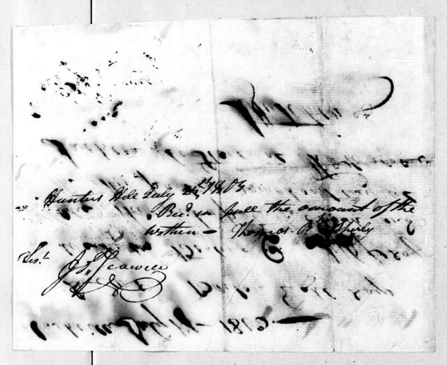 John Hutchings, July 17, 1803