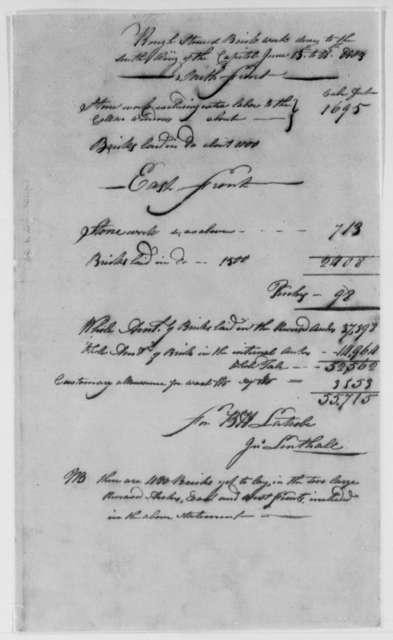 John Lenthall to Thomas Jefferson, May 1803, Receipts