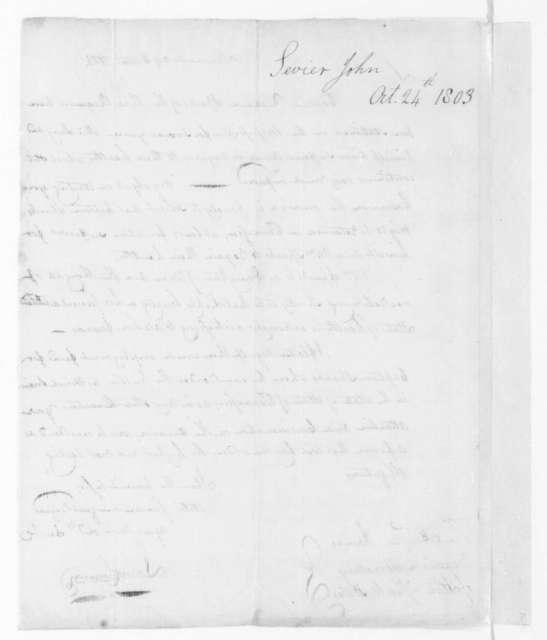 John Sevier to James Madison, October 24, 1803.