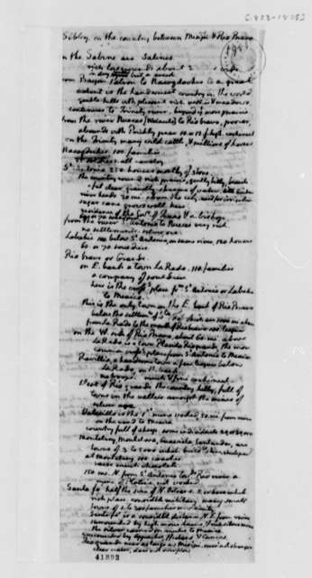 John Sibley, 1803, Statement on Mississippi River and Rio Bravo