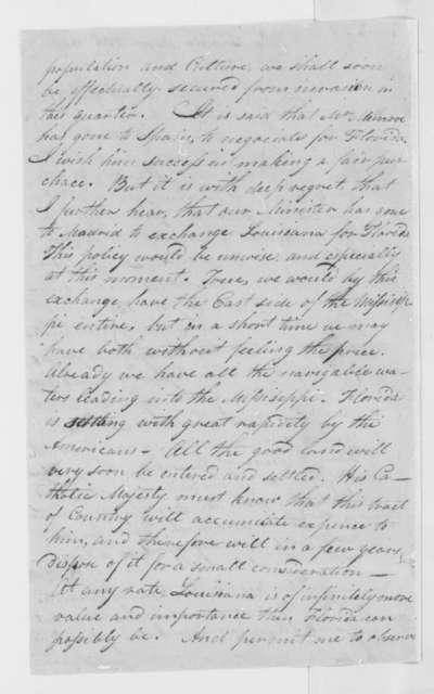 John Smith to Thomas Jefferson, August 30, 1803