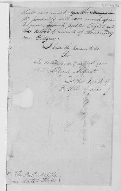 John Smith to Thomas Jefferson, August 9, 1803