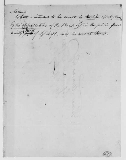 John Van Ness to Thomas Munroe, Superintendent of the City, March 14, 1803