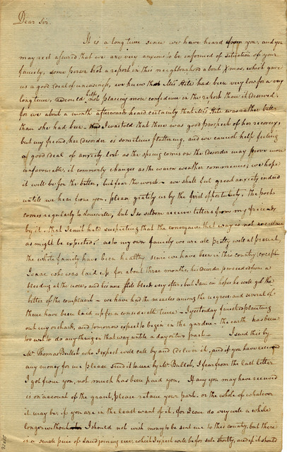 Letter from Jonathan Clark to Isaac Hite