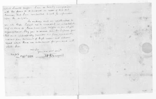 Littleton Waller Tazewell to James Madison, December 26, 1803.